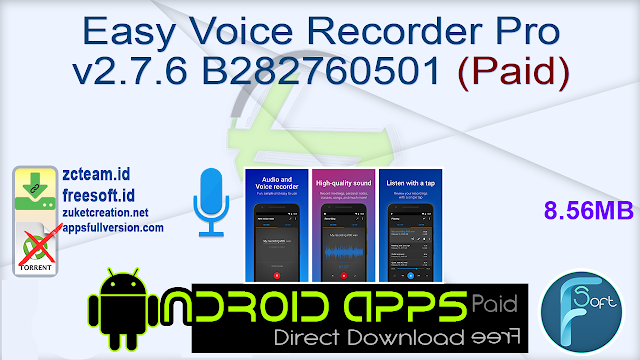 Easy Voice Recorder Pro v2.7.6 B282760501 (Paid)