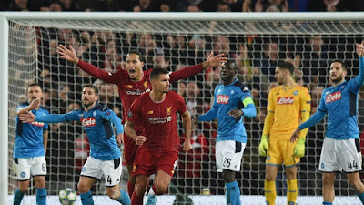 Video Cuplikan Gol: Liverpool 1-1 Napoli (UEFA Champions League)