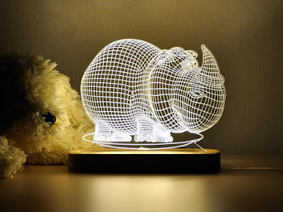 Rhino 3D Night Light