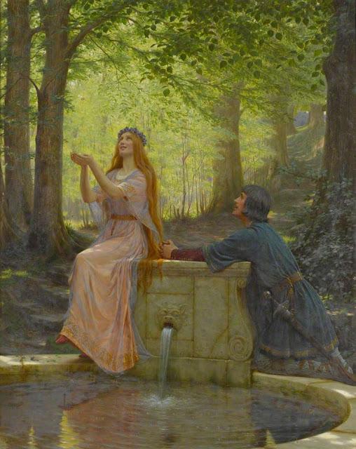 """Pelléas and Mélisande"", c1910 Edmund Blair Leighton (1852-1922). English Williamson Art Gallery, Birkenhead"