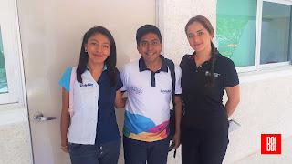 Verónica Morales, Alan Salgado y Gaby Maruri.