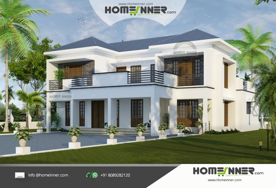 Nice Searching For 3095 Sq Ft Beautiful Home Front Design? Then Here Is A Simple Home  Design Idea From Homeinner 4 Bedroom Plan Collection.