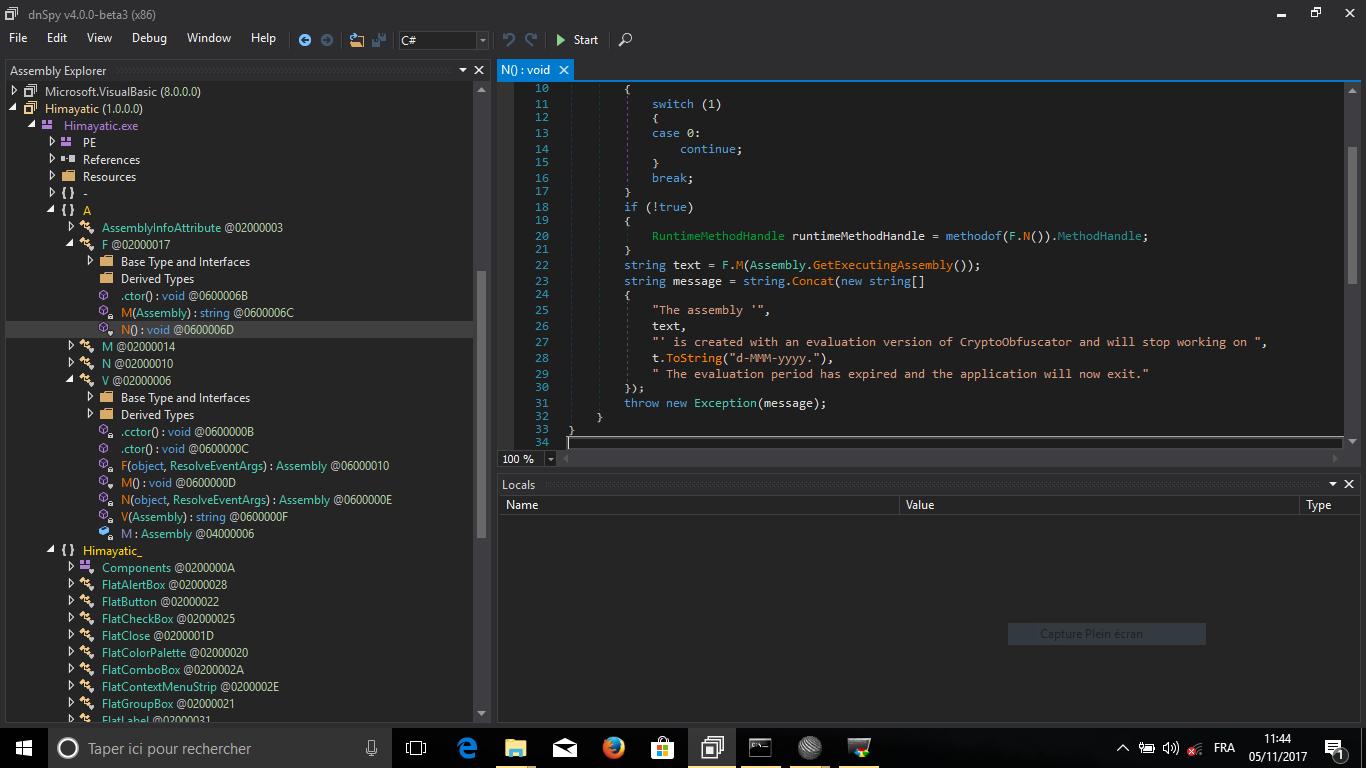 Himayatic rev_400 Writeup ( NET Crackme)