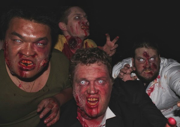 4 Zombies looking gruesome