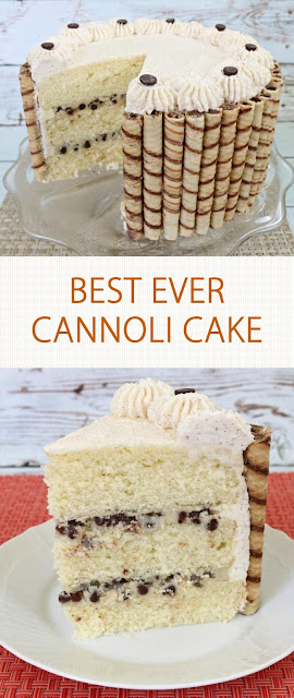BEST EVER CANNOLI CAKE
