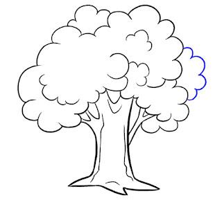 رسمة سهله للمبتدئين بالرصاص طريقة رسم الشجرة خطوة بخطوة