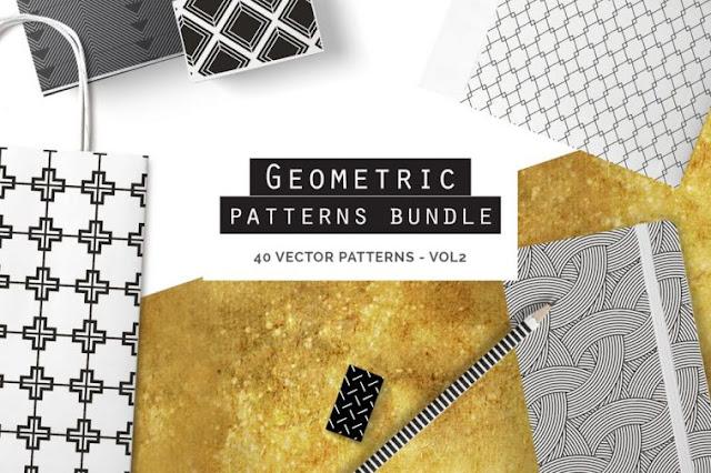 free Geometric Seamless Patterns Bundle
