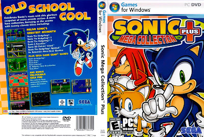 Jogo Sonic Mega Collection Plus PC DVD Capa