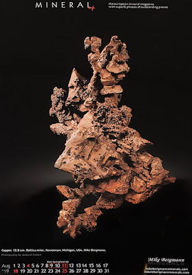 cobre, mineral, calendario