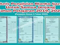 Juknis Pengisian Blanko Ijazah di Masa COVID-19 Untuk Semua Jenjang Tahun Pelajaran 2019/2020