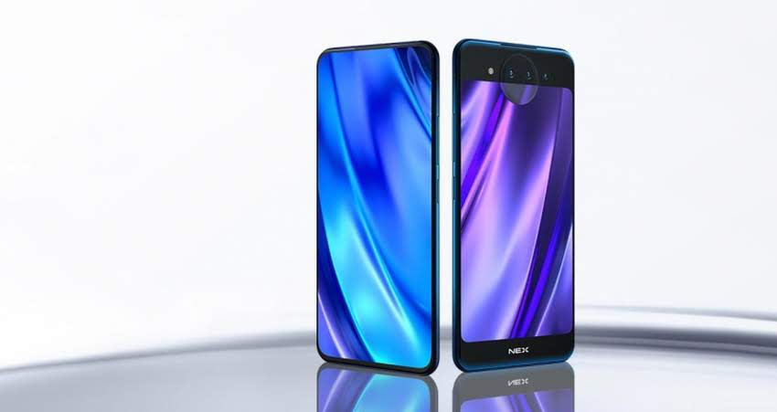 Features NEX Vivo Dual Display Edition: a top-end smartphone with two displays and three cameras