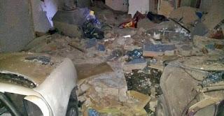 Prédio de posto de gasolina é explodido em Campina