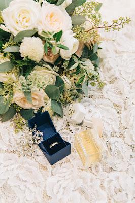bridal bouquet and details