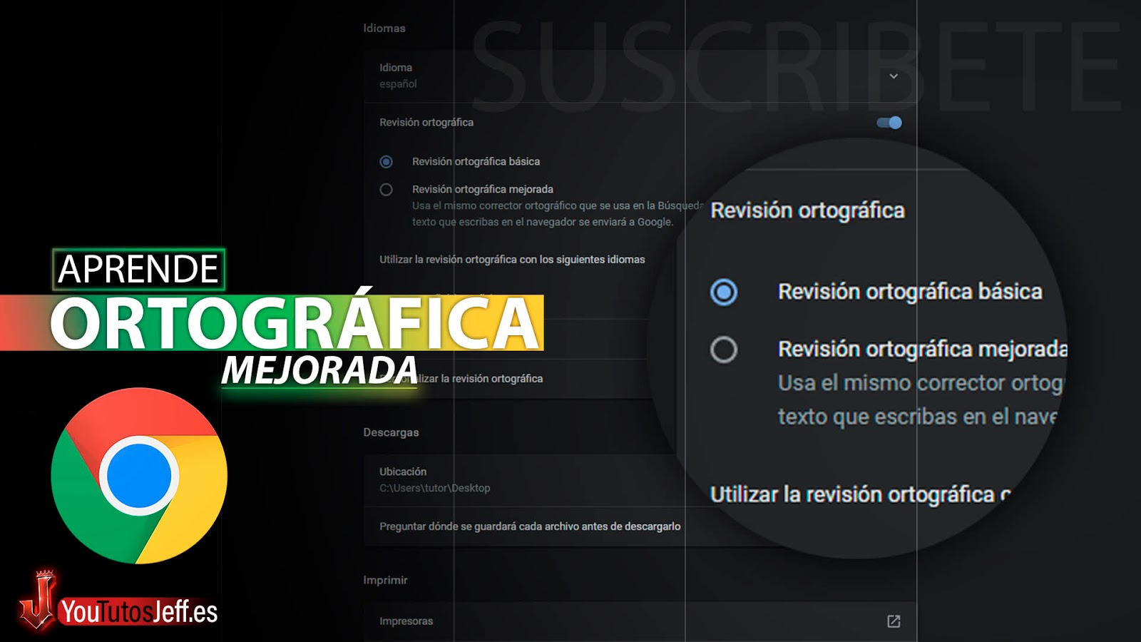 Como Activar Corrector Ortografico de Google Chrome