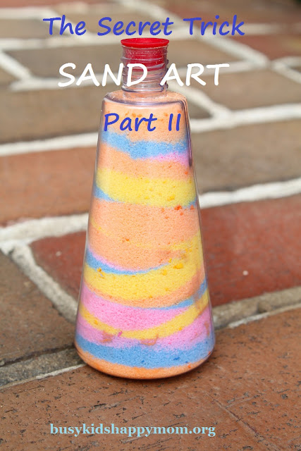 How to make pretty layers in sand art bottles.