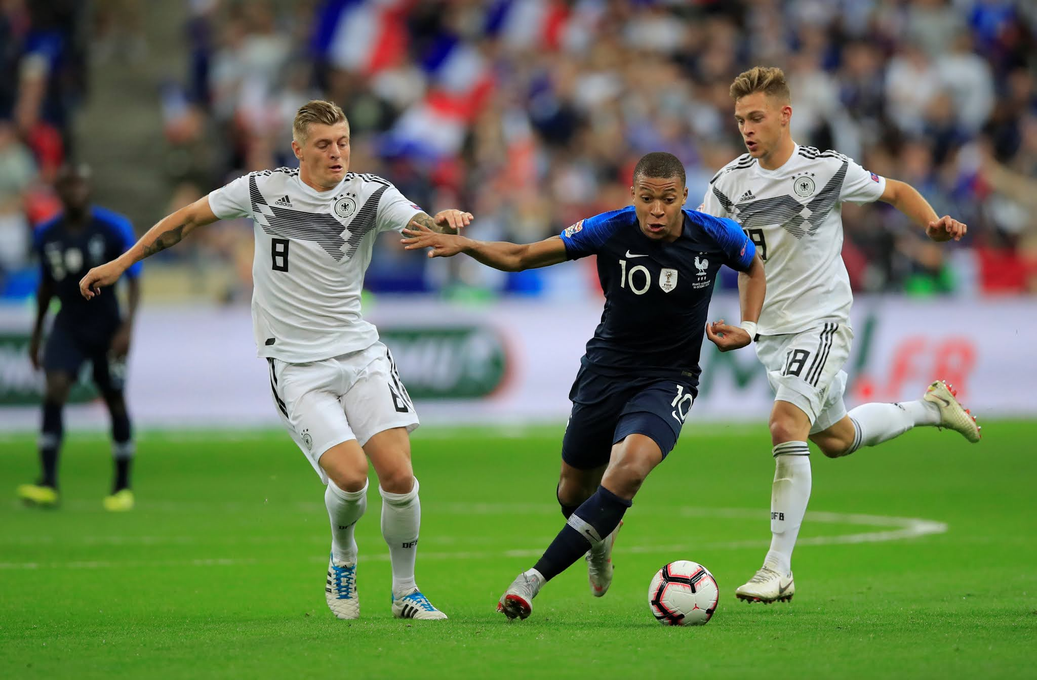 Kylian Mbappe will be hoping to give France the advantage against Germany