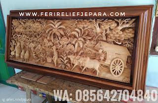 Ukiran jepara relief pertanian