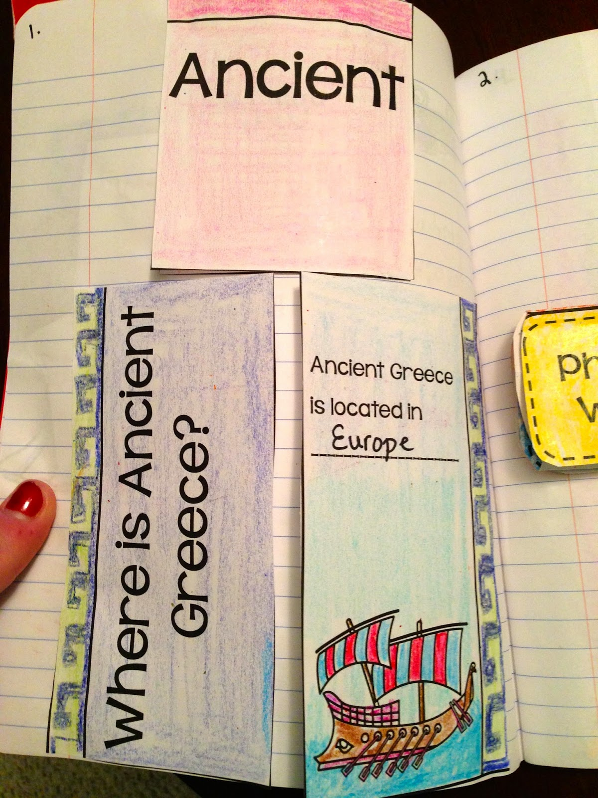 Activities for teaching Ancient Greece in third-grade