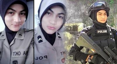 Bripda Nina Powan Cantik Asal Aceh yang menghebohkan Netizen