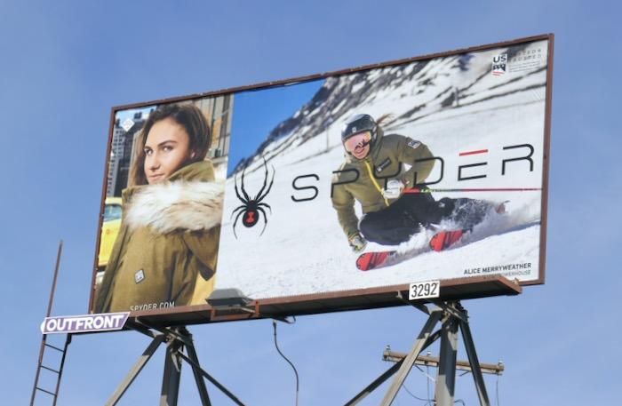 Spyder skiwear Alice Merryweather billboard