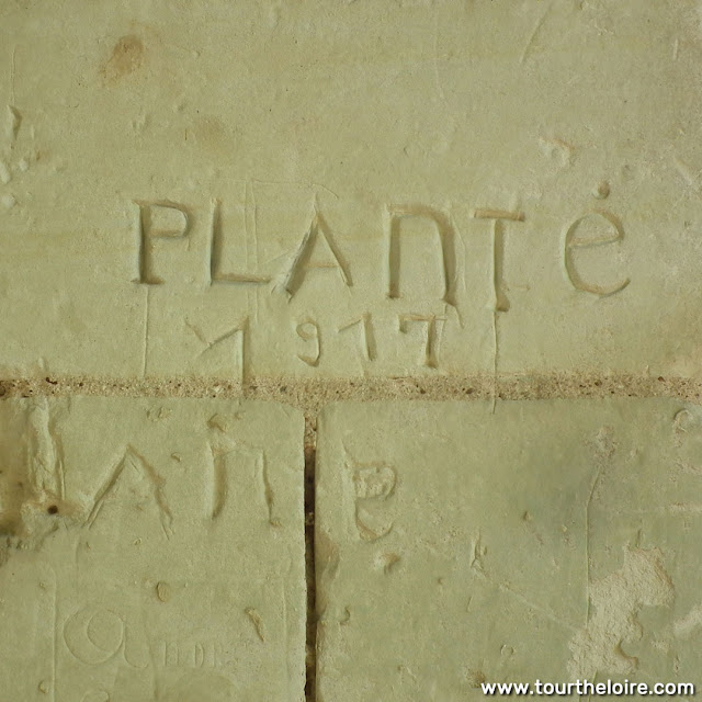 WWI graffiti, Chateau of Chenonceau, Indre et Loire, France. Photo by Loire Valley Time Travel.