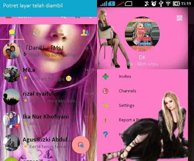 BBM Mod Pink V3.0.1.25 Apk