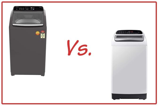 Whirlpool Royal Plus (left) and Samsung WA65T4262GG/TL (right) Washing Machine Comparison.