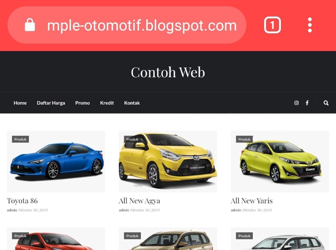 Website Sales Mobil By Bayu-Media Web & Ads