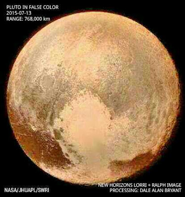 New Horizons Image of Pluto in False Color.