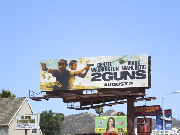 2 Guns film billboard