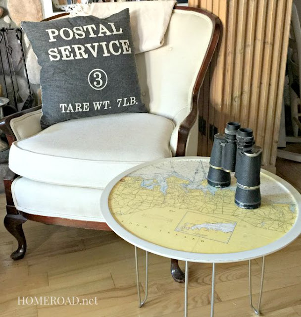 Map Table with Hairpin Legs