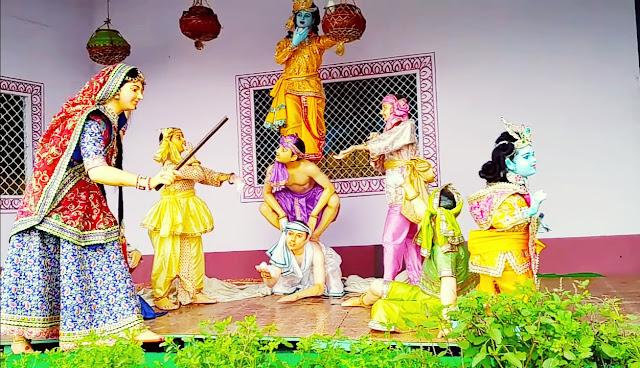 Prem Mandir Vrindavan Krishna and Yashoda images