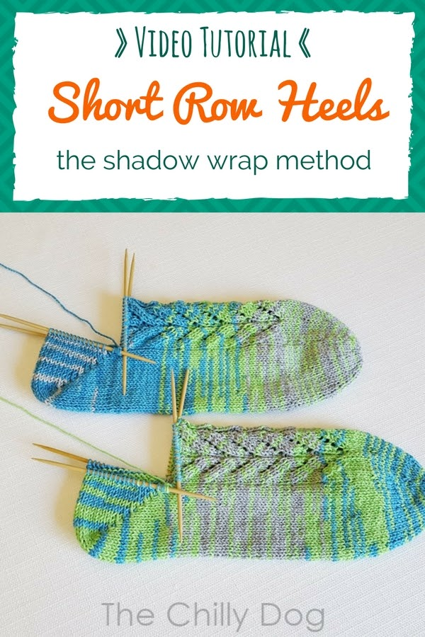 Whale Done Socks KAL Video Tutorial: Learn how to knit the second half of a shadow wrapped short row sock heel