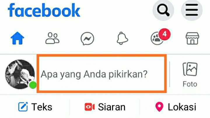 Cara membuat status di Facebook