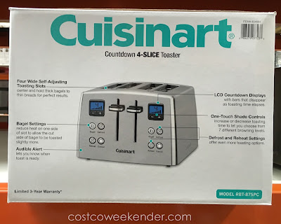 Cuisinart RBT-875PC Countdown 4-Slice Toaster - One-touch shade controls