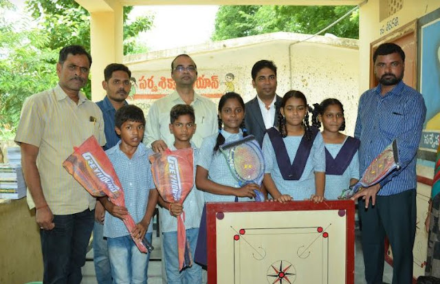 Golkonda Resorts And Spa Distributed School Bags, Books to Students at Gandipet Govt School