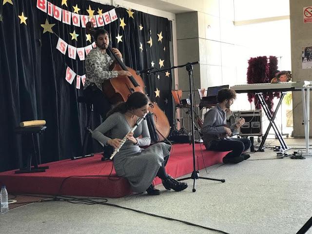 La biblioteca General María Moliner ha acogido un magnífico concierto