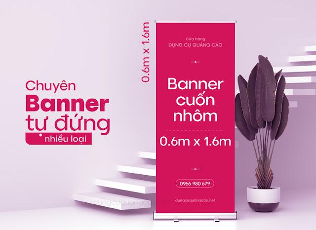 Banner cuốn nhôm inox bán chạy
