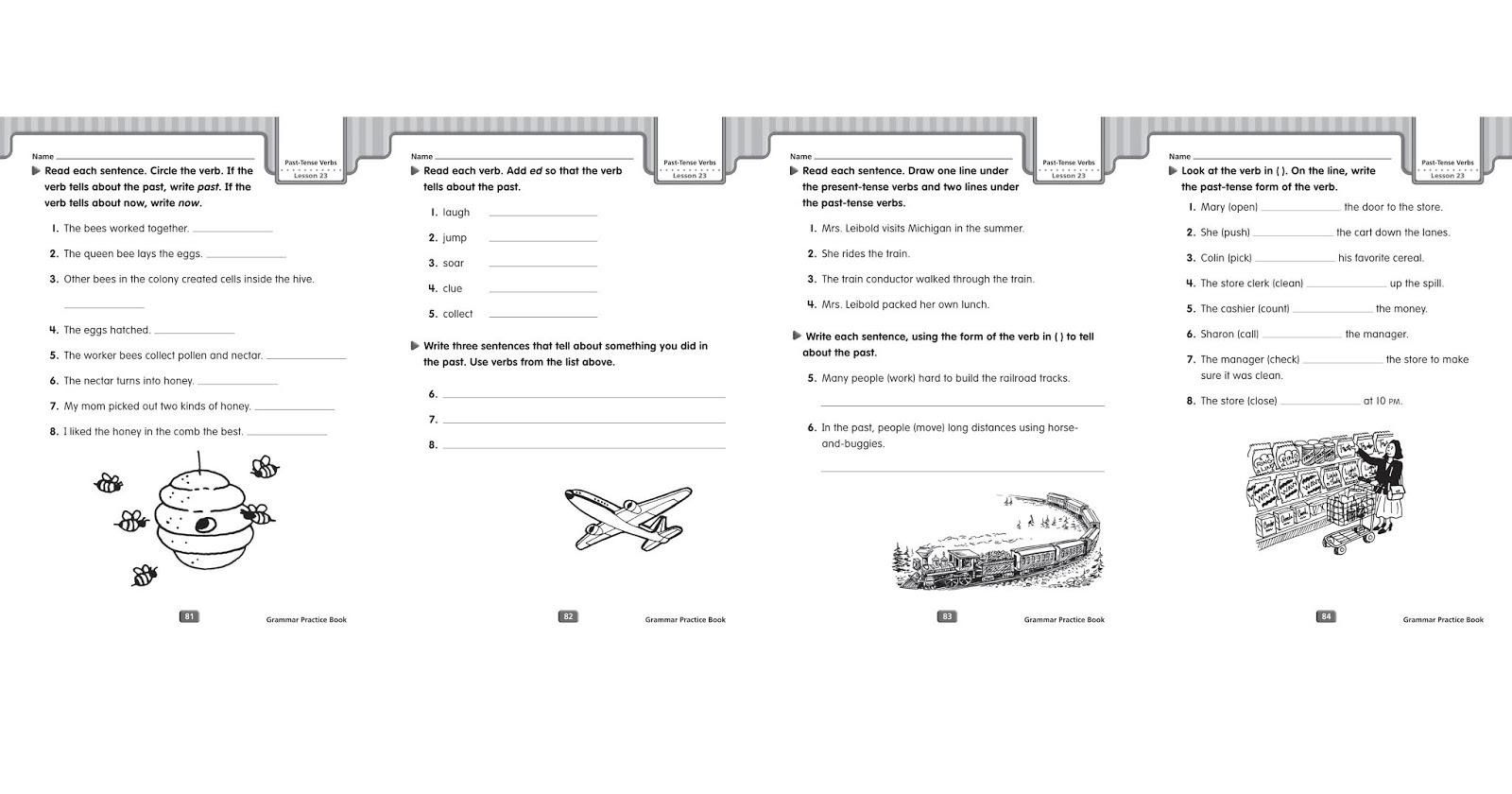 Grammar Worksheets Simple Past Tense