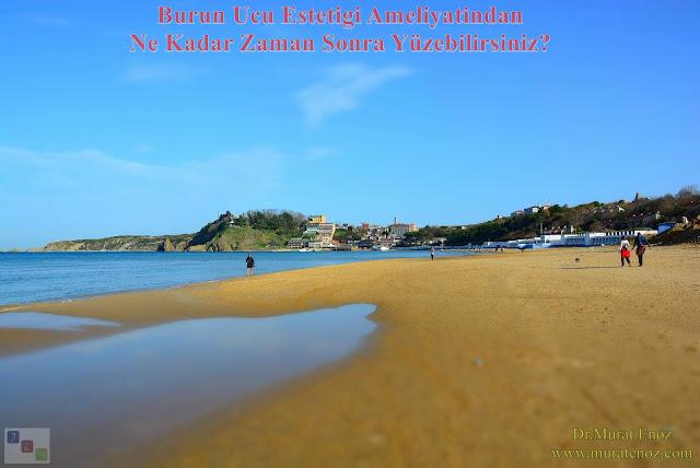Burun ucu estetiği ameliyatı sonrası denize ne zaman girilebilir? - Burun ucu estetiği sonrası havuza girilebilir mi? - Tip plasti sonrası ne zaman denize gidilebilir?