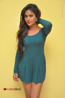 Telugu Actress Prasanthi Stills in Green Short Dress at Swachh Hyderabad Cricket Press Meet  0021.JPG