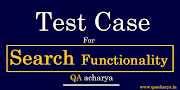 Test Cases For Search Functionality
