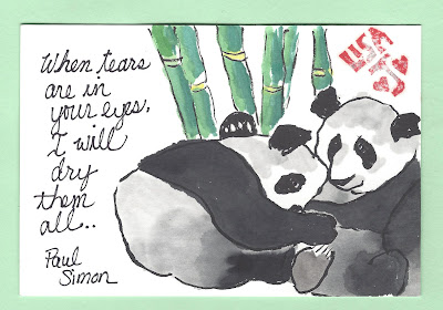 Friendship panda etegami