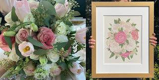 Wedding Ideas - framed flowers with female hands holding it - dbandrea - Wedding Ideas - framed wedding flowers - dbandrea - Wedding Soiree Blog by K'Mich - wedding planners in Philadelphia PA
