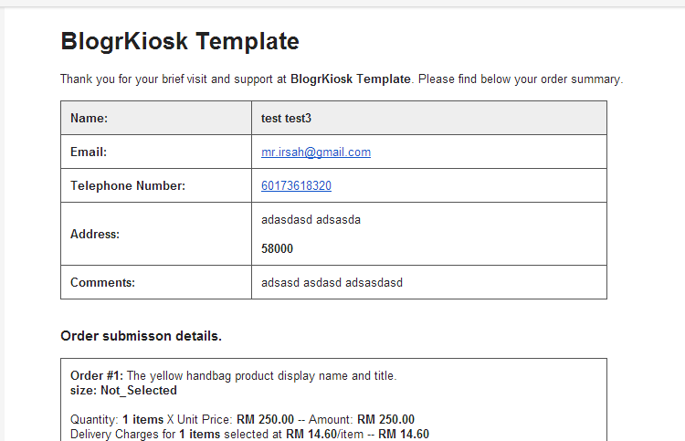 announcing new simplified e mail invoice send order shopping cart