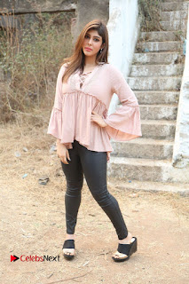 Telugu Actress Aditi Singh Stills in Leather Pants at Nenu Kidnap Iyanu Movie Press Meet  0242.JPG
