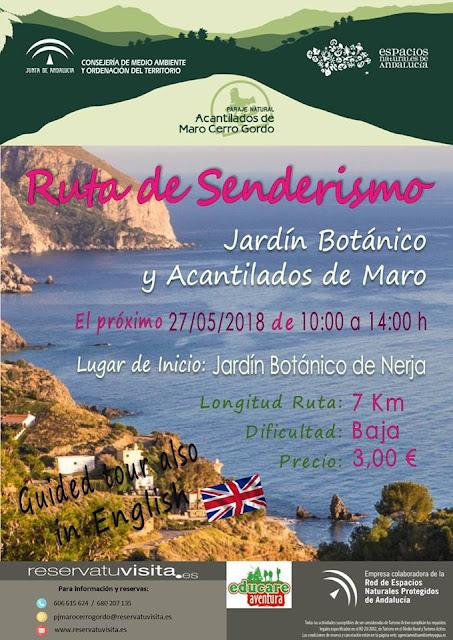 Senderismo: Jardín Botánico de Nerja y Acantilados de Maro