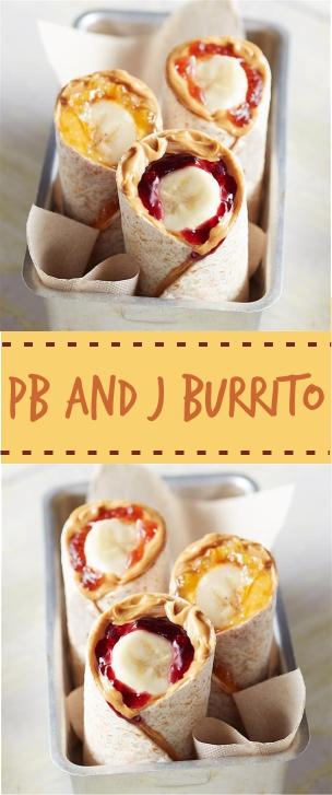 Pb and J Burrito