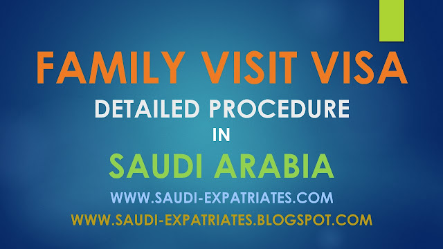 FAMILY VISIT VISA IN SAUDI ARABIA