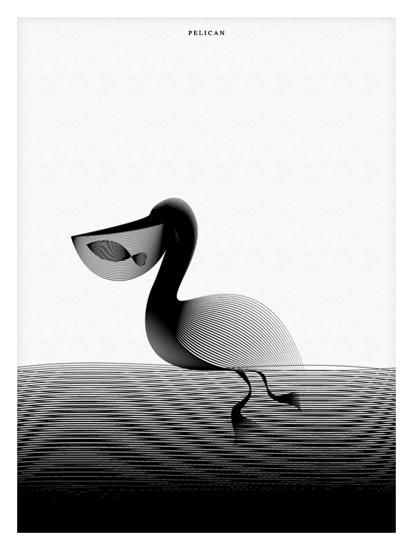 03-Pelican-eating-a-fish-Andrea-Minini-Minimalist-and-Highly-Stylized-Drawings-www-designstack-co